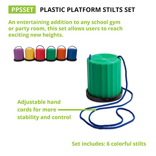 Champion Sports Platform Kid Stilts: Classic Kids Party, Birthday, and Picnic Game Set by Champion Sports (Image #3)