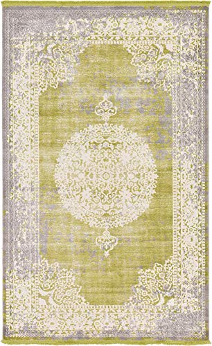 (Unique Loom New Classical Collection Traditional Distressed Vintage Classic Light Green Area Rug (5' 0 x 8' 0) )