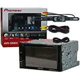 2017 Pioneer Car audio 2DIN Double Din 6.2 Touchscreen DVD MP3 CD stereo built-in Bluetooth & AppRadio Mode + DCO Waterproof Backup Camera with Nightvision