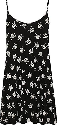 WearAll Plus Size Women's Printed Strappy Mini Dress - Skull Bones - US 16-18 (UK -