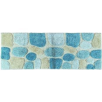 Amazon Com Chesapeake Pebbles 2pc Aquamarine Bath Rug