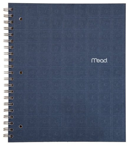 Mead Recycled Spiral Notebook, 80 Sheets, College Ruled, 11 x 8.5 Inch Page Size, Indigo (72443)