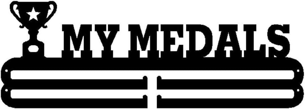 Porta Trofei Porta Medaglie Adatto per 30+ Espositore per Medaglie Sportive Montato A Parete Appendiabiti per Medaglie Sportive Gancio per Premi