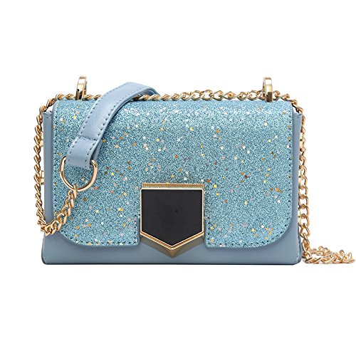 Lock Crossbody Personality Sequined Small Incense Woman Bag Bangalore Chain Gules Blue Bag qC0wAOwS