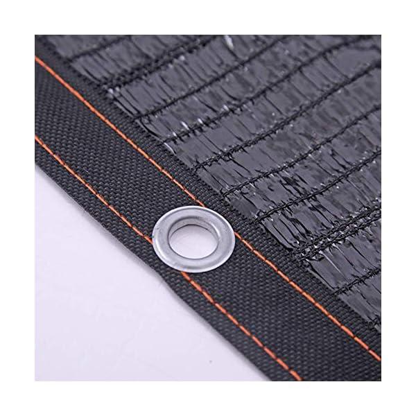 Giow - Telo protettivo per protezione solare in polietilene nero, 1 metro, 1 asola antipolvere, 21 misure (colore: nero… 5 spesavip