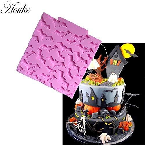 Mold Pudding - Bat Shape Cake Mold Fondant Chocolate Soap Decorating Bakeware G203 - Roses Shower Windows Hunting Baby Bunny Patrol Easter Ribbon Designs Graduation Spiderman Sets Quiltin -