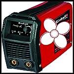 Einhell-1544170-TC-IW-150-Saldatrice-Inverter-Morsetto-di-Massa-Porta-Elettrodo-85-V-RossoNero