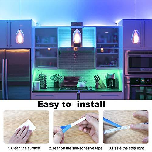 Strisce LED, Sylvwin Striscia LED 5m RGB con Telecomando, 5050 LED Strisce LED Luminose con 16 Cambi di Colore, 4 Modalità per la Casa, Camera da Letto,TV,Decorazioni per Mobili,Feste,12V