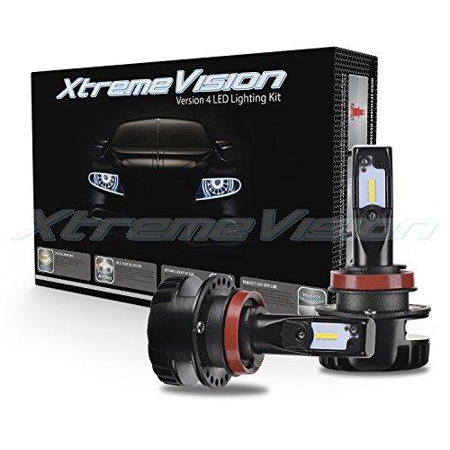XtremeVision V4 32W 4,800LM - H11 LED Headlight Conversion Kit - 6500K Korea CSP LED - Fanless Design - 2018 Model