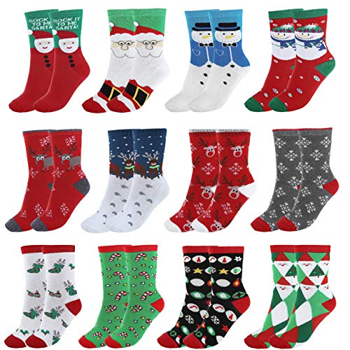 Ayliss Women Christmas Socks Warm Winter Crew Socks Holiday Slipper Socks ()