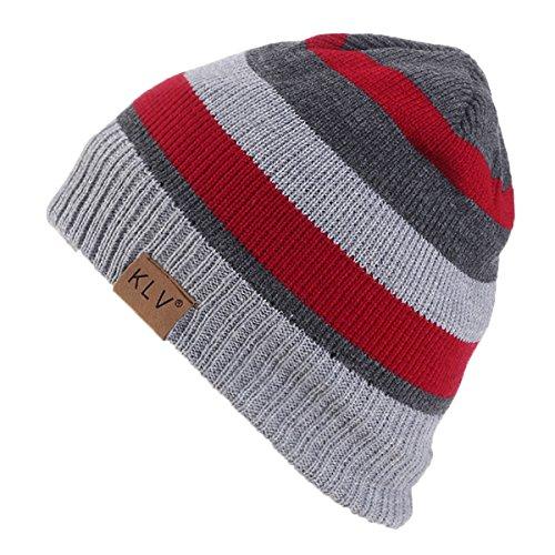 Gorrita de Hombre Punto y Invierno Mujeres Gorros Rojo para Punto Sombrero Hombres na6qFwx7S