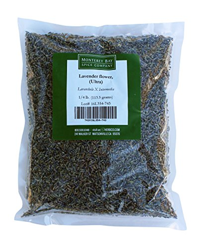 Monterey Bay Spice Co. Lavender Flower Whole (Ultra) 1/4 LB Pack