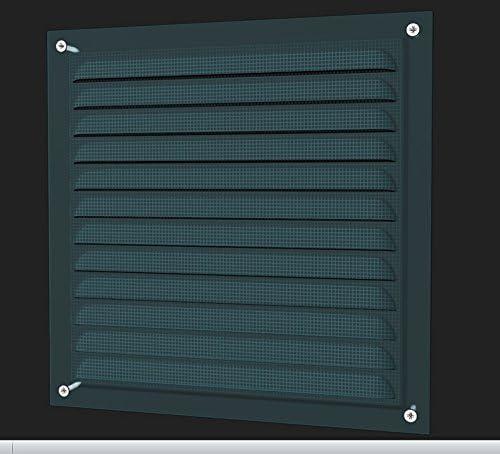 125x125mm M/étal Grille de Ventilation avec filet contre les moustiques Conduit Extraction Contr/ôle de lhumidit/é Syst/ème de Ventilation