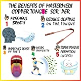 MasterMedi Tongue Cleaner Tongue Scraper Copper