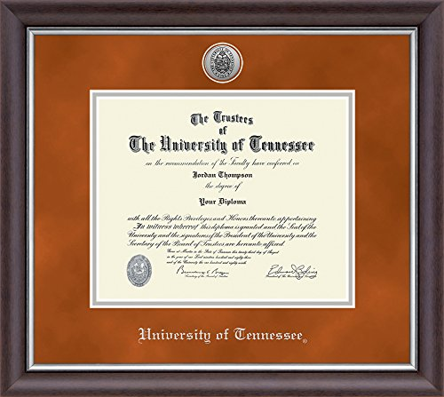 University of Tennessee Silver Engraved Medallion Diploma Frame - Officially Licensed - 14