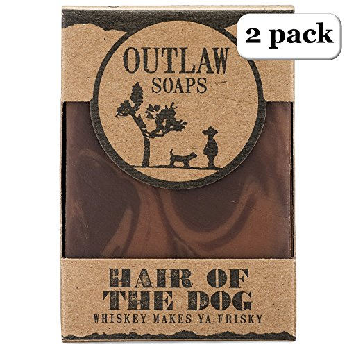 (Hair of the Dog Whiskey Soap - 2 Pack - Smell like Fortune and Boldness - Like Whiskey, Tobacco, and Coffee Soap - Men's and Women's Bar Soap)