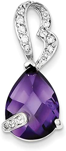 Pendants Accessories and Fashion Charms .925 Sterling Silver Amethyst CZ Pendant