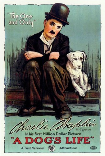 A Dog's Life Movie Poster (27 x 40 Inches - 69cm x 102cm) (1918) Style B -(Charles Chaplin)(Edna Purviance)(Syd Chaplin)(Henry Bergman)(Charles Reisner) - Chaplin Movie Poster
