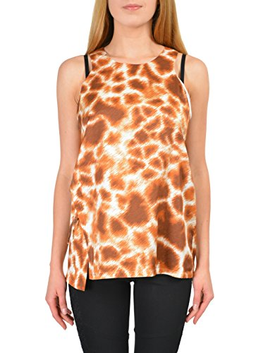 Just Cavalli Multi-Color Animal Print Sleeveless Women's Blouse Top US S IT 40
