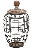 Deco 79 Metal Wood Wire Jar, 9 by 14-Inch