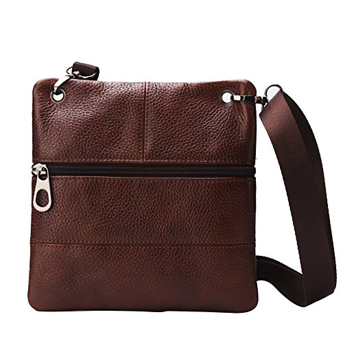 Bison Denim - Bolso bandolera Hombre Marrón - Brown/W2434-1Z