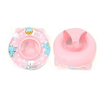 Fusicase Cute Sea Patrón de elefante inflable anillo de natación PVC bebé Niños piscina flotador,