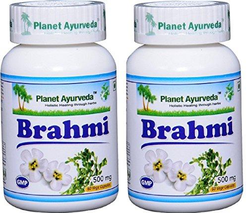 Ayurvedic Remedies. Planet Ayurveda Brahmi, 500mg Veg Capsules - 2 Bottles #ayurveda