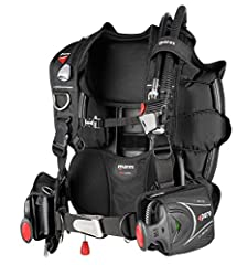 ■ Comfortable and stable back buoyancy BC with 18kg lift (40 lbs) ■ Streamlined ■ Swivel shoulder buckles ■ Smart trim weight positioning ■ SLS weight system ■ Roll-down cargo pocket ■ Waist strap allows maximum adjustability ■ Customizable a...