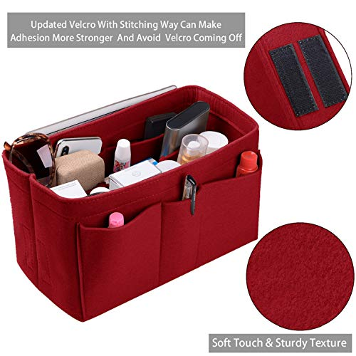 Purse Organizer Insert, Felt(3MM) Fabric Bag Organizer for LV Neverfull, LV Speedy, Purse Handbag Tote Bag, 3 Sizes, 8 Colors ()