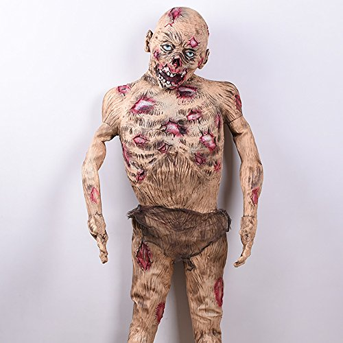 YHOOEE Halloween Decoration Corpse Horror Zombie Props Haunted House Escape From Biohazard,Men