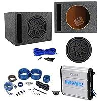 Kicker 44CVX102 Comp VX CVX 10 1200w Subwoofer+Hifonics Amp+Vented Box+Wires