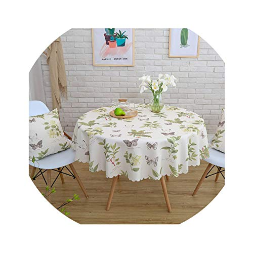 - HANBINGPO Waterproof Printed Tablecloth Round Table Cover Tea Table Cloth Rural Rectangular Cover Cloth Home Decoration,03,140x200cm