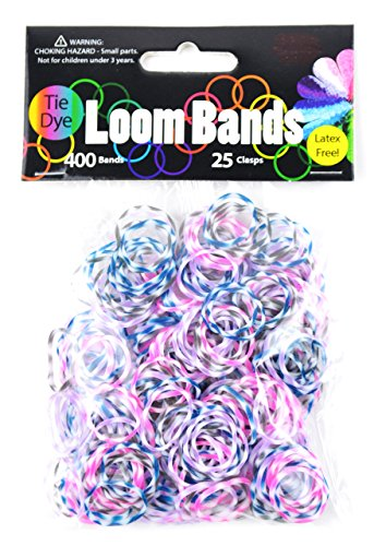 Midwest Design Imports Loom Bands Plum Blossom Tie Dye, Includes 400 Bands and 25 Clasps from Midwest Design Imports, Inc.