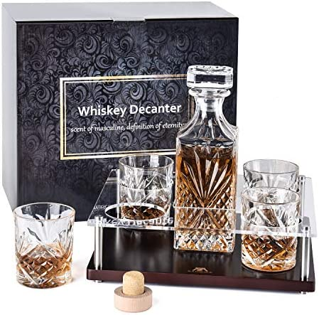 Whiskey Decanter Crystal Glasses Bourbon product image