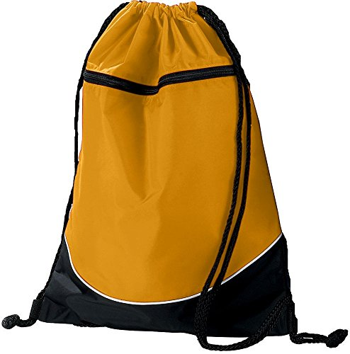 - Augusta Sportswear TRI-Color Drawstring Backpack OS Gold/Black/White