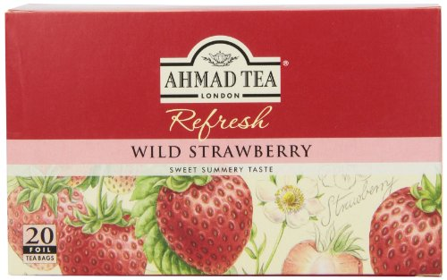 Ahmad Tea, Wild Strawberry, 20-Count (Pack of 6)