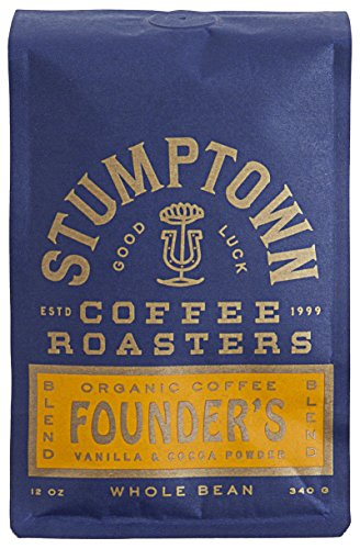 Stumptown Coffee Roasters Blend Whole Bean Coffee Bag, Founders, 12 Ounce