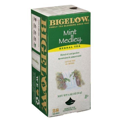 Bigelow Tea Bags, Mint Medley, 28-Count Boxes (Pack of 6) - Mint Medley Herb Tea