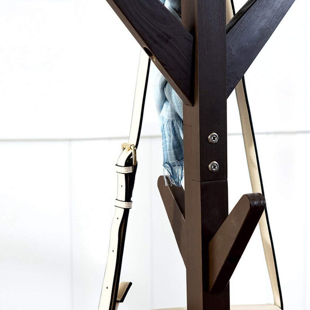 BAKAJI Attaccapanni Appendiabiti di Design a Piantana da Terra in Legno di Pino con 8 Ganci Appendi Abiti e Base 4 Piedi Dimensione 58 X 58 X 175 cm Verde