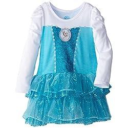 Disney Girls' Frozen Knit Dress with Cape
