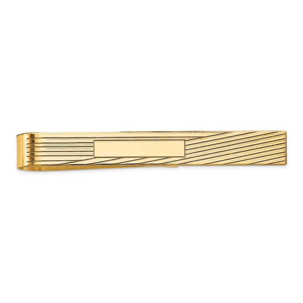 14K Yellow Gold Men's Accessory Tie Tacs/Tie Bars Solid 6.5 mm 50 mm Tie Bar
