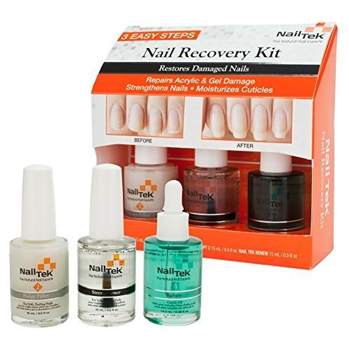 Nail Tek New Restore Damaged Nails Kit, Intensive Therapy II 0.5 fl oz, Foundation II 0.5 fl oz and Renew 0.5 fl oz