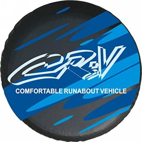 l PVC Leather Spare Tire Cover Blue 16 Inch Honda Spare Tire Cover (Honda Crv Tire Cover)