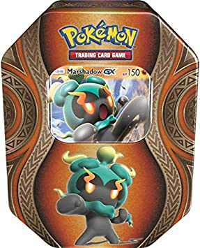 lively moments Naipes de Pokemon Caja de Lata Marshadow - GX de ...
