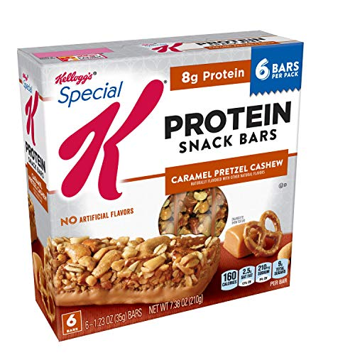 Special K Protein Snack Bars, Caramel Pretzel Cashew, 7.38 oz (6 Count)(Pack of 8)