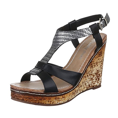 Ital-Design Women's Sandals Black - Black WoHzH9aa