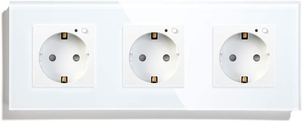 con Control Remoto Wi-Fi Smart Plug Enchufe de pared simple 86mm Oro Google Home y Smartlife BSEED Enchufe Inteligente 16A Inteligente Plug Compatible con Tuya,Alexa