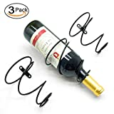 Iron Wall Wine Holder Rack (Black, Set of 3)