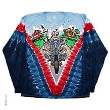 Men's Grateful Dead Moto Sam Long Sleeve T-Shirt by Liquid Blue
