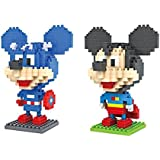 Gooband®LOZ Mickey Mouse Transformers Set Pack of 2 Diamond Nanoblock Educational Toy 480pcs
